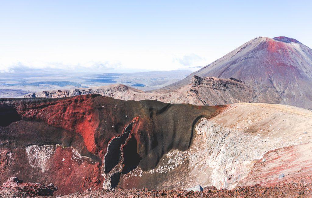 Blick auf den Red Crater, Mt Ngauruhoe im Hintergrund