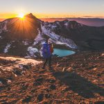 Tongariro Alpine Crossing - Emerald Lakes Sonnenaufgang