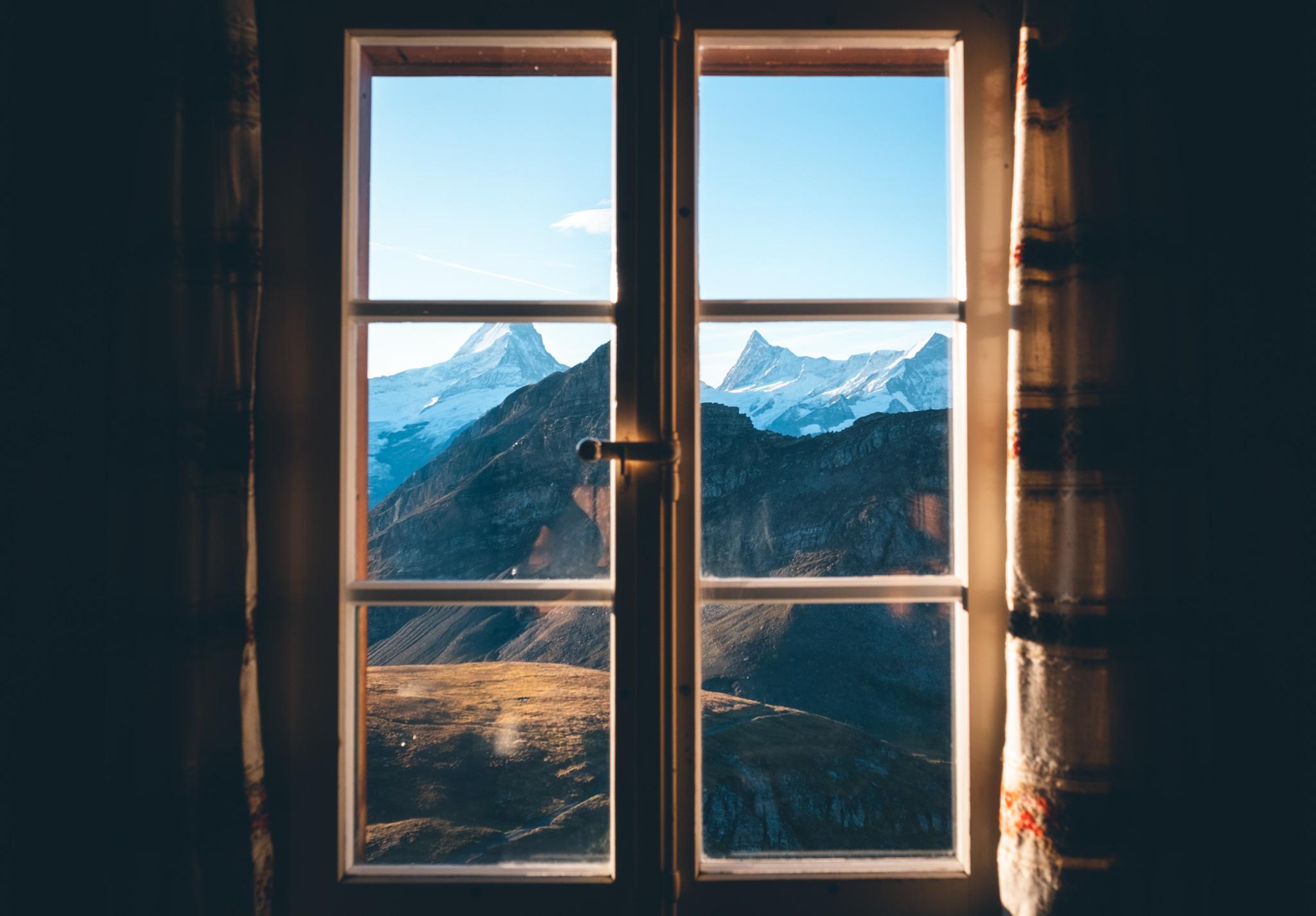 Blick aus der Stube des Berghotels Faulhorn | © Boardshortslife