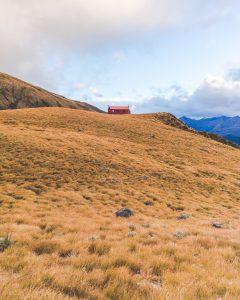 Brewster Hut auf dem Hügel
