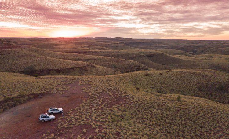 Sonnenuntergang Pilbara Region - Australien