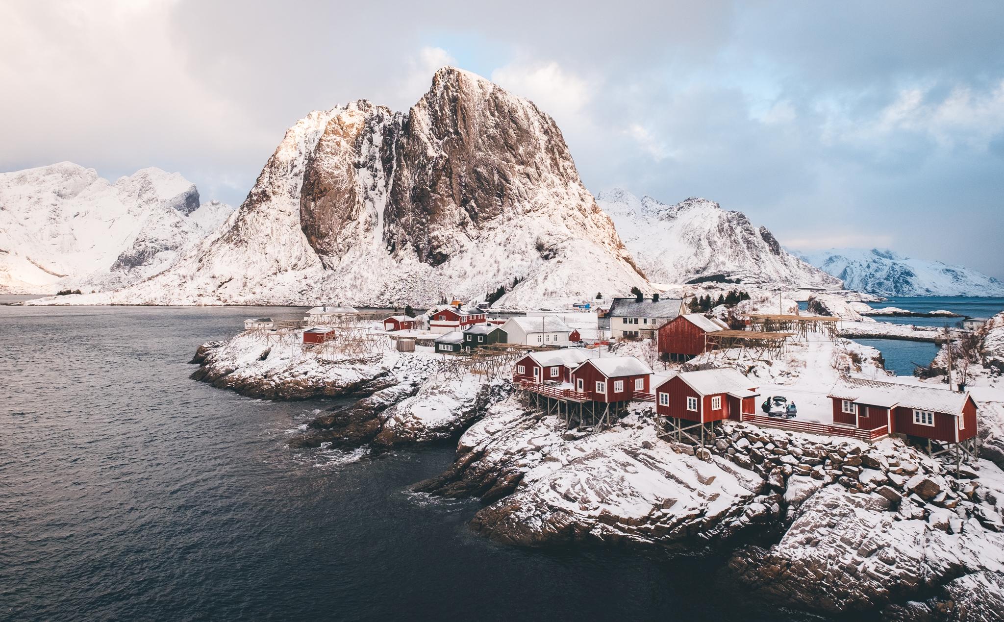 Wintercamping auf den Lofoten - Hamnoy | © Boardshortslife