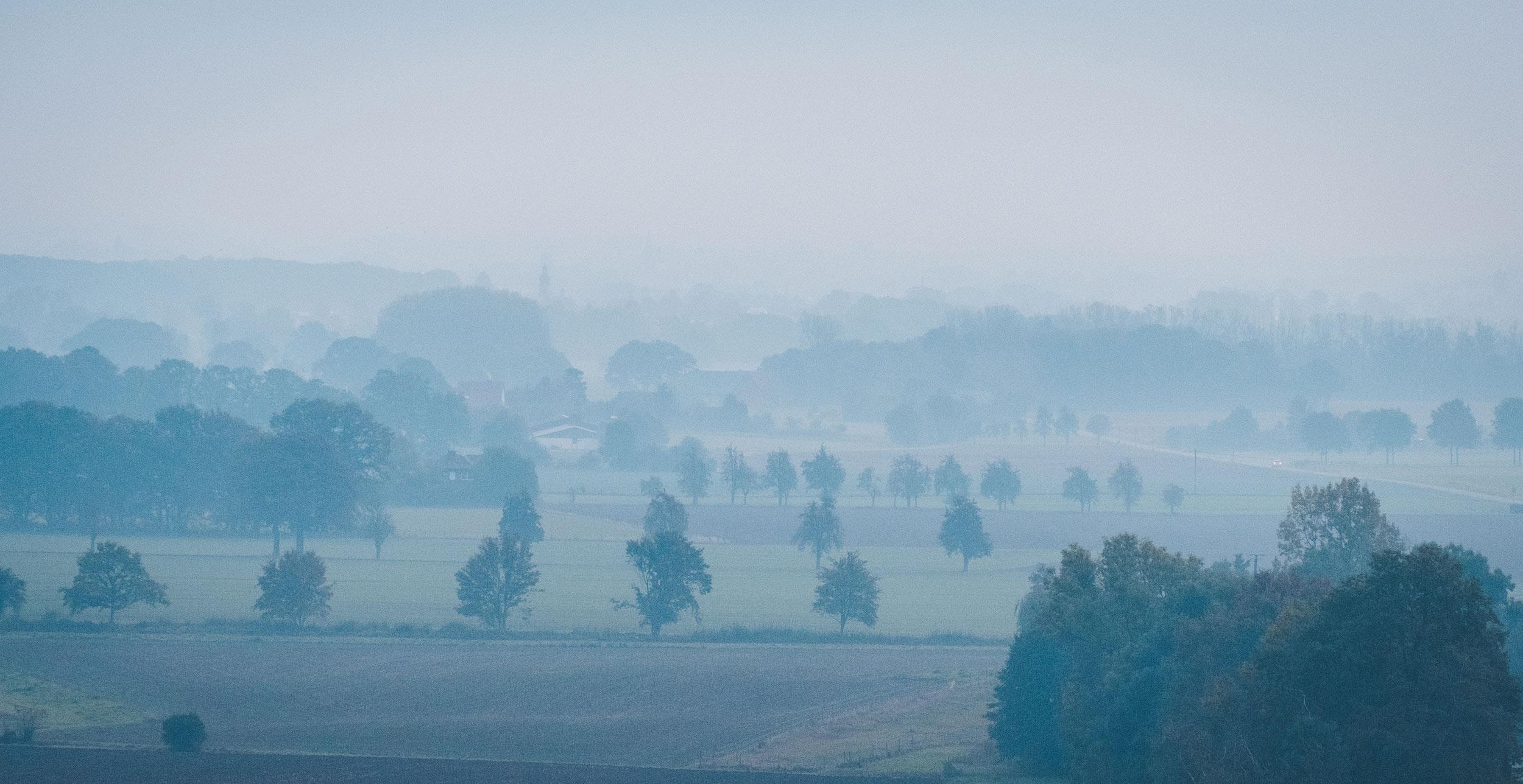 Sonnenaufgang bei Burg Stromberg - 3-Tagestour mit dem Camper im Münsterland