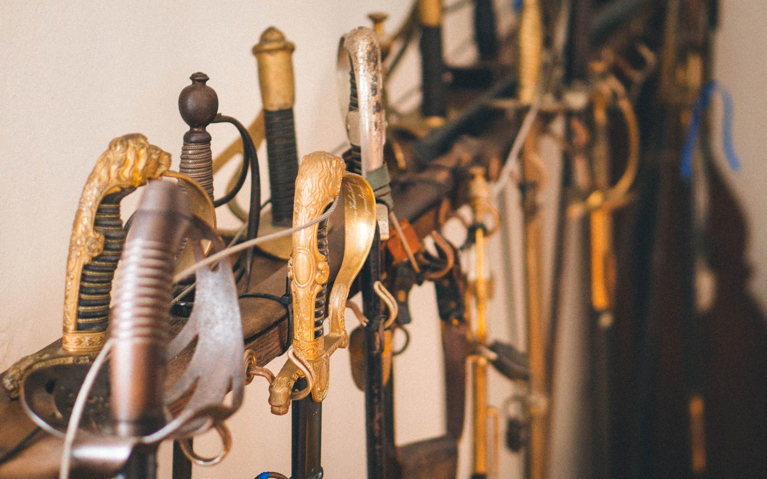 Schwertsammlung im Haus Marck