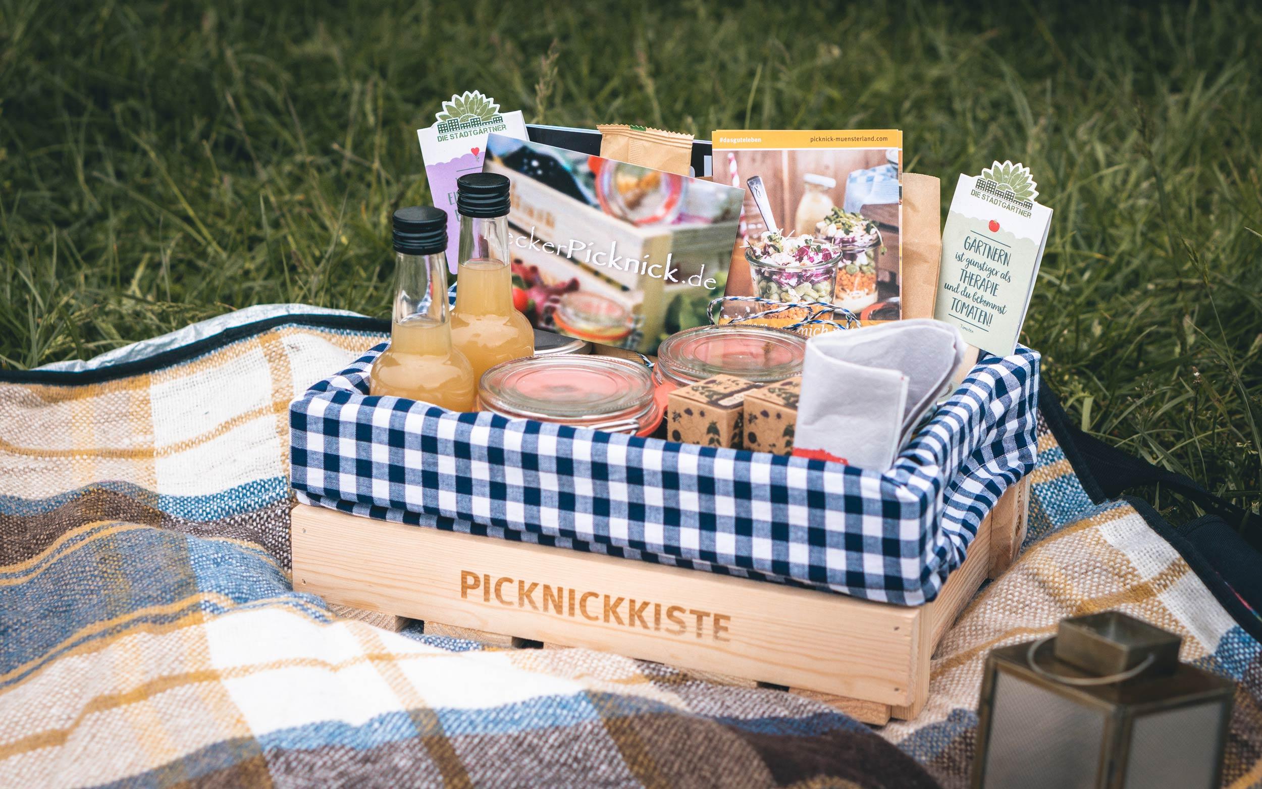 LeckerPicknick - veganer Picknickkorb
